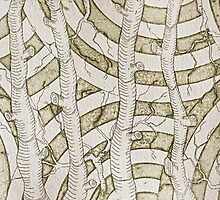 Tree Textile Etching Forest Collection by MylesCalvert