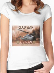AH-1 Cobra Gulf War Veteran Women's Fitted Scoop T-Shirt