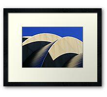 Kauffman Center Curves and Shadows Framed Print