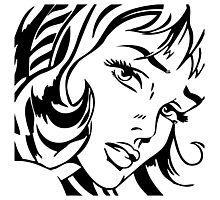 Girl With Hair Ribbon - Roy Lichtenstein Stencil Photographic Print