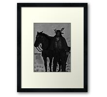 The Lone Scout Framed Print