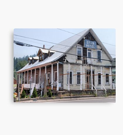old hotel in historic Truckee Canvas Print