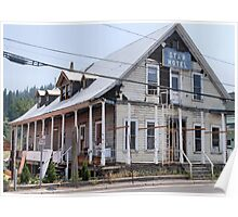 old hotel in historic Truckee Poster