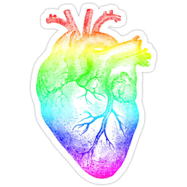 Rainbow Heart by AHakir
