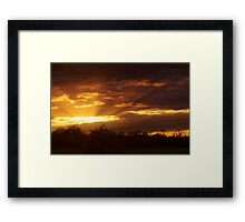 Dramatic Skies at Dusk Over South London, England Framed Print