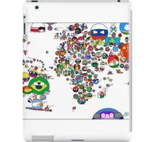 Polandball Countryball World Map | Countryballs Meme iPad Case/Skin