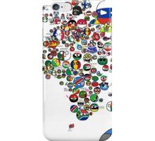Polandball Countryball World Map | Countryballs Meme iPhone Case/Skin
