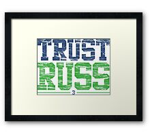 Trust Russ | Seattle Seahawks Framed Print