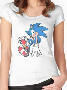 Sonic Sitting Women's Fitted Scoop T-Shirt