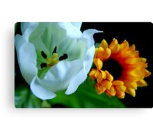Plastic Flowers Canvas Print