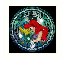 Ariel Stained Glass Art Print