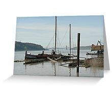 Derelict boats on the Benicia waterfront Greeting Card