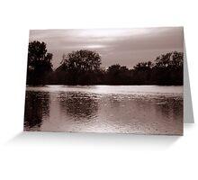 Perfect Lake View 1 Greeting Card