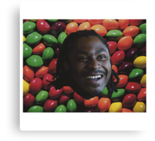 Marshawn Lynch Skittles Canvas Print