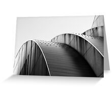 Kauffman Center Curves and Shadows Black and White Greeting Card