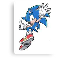 Sonic Jumping Canvas Print