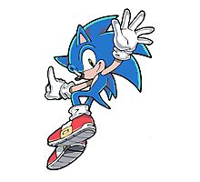 Sonic Jumping Photographic Print