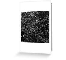 Black Ice  Greeting Card
