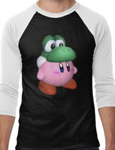 eggzalent kirby dezign :] Men's Baseball ¾ T-Shirt