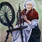 """Old Irish Spinner"" by Avril Brand"