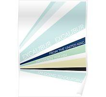 Excalibur Typography Poster