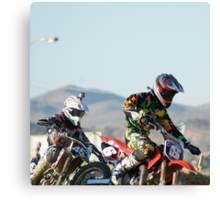 Two Boys; A Day In The Dirt; Throttle push presses the win; Palmdale, CA Days In The Dirt 2008 Canvas Print
