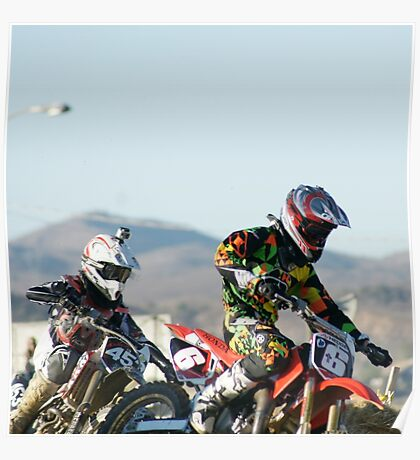 Two Boys; A Day In The Dirt; Throttle push presses the win; Palmdale, CA Days In The Dirt 2008 Poster