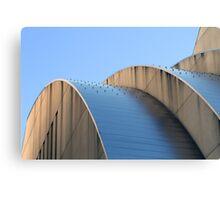 Kauffman Center Blue Curves Canvas Print