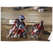 Loretta Lynn's SW Area Qualifier - MX Rider #'s 326, 962 & 6 Battle for the turn! Comptetive Edge MX - Hesperia, CA Poster
