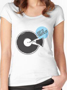 Cut it / Taste it Women's Fitted Scoop T-Shirt