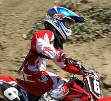"Motocross Rider - Determined ""Red Honda Rider"" Working hard towards Loretta Lynns ""SPONSOR ME"" Photo"" by leih2008"