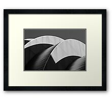 Kauffman Center Black and White Curves and Shadows Framed Print