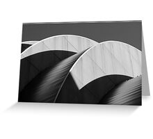 Kauffman Center Black and White Curves and Shadows Greeting Card
