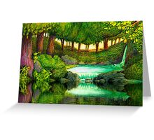FOREST POOL Greeting Card