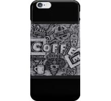 Coffee Chalk Sketch iPhone Case/Skin