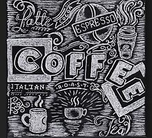Coffee Chalk Sketch by Samantha Chung