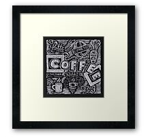 Coffee Chalk Sketch Framed Print