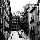 Cobbled street in Madrid by Rob Fenn