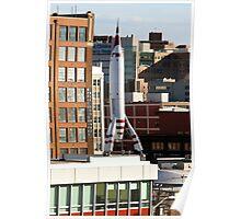 TWA Moonliner II Rocket Poster