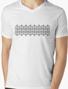Black and White Geometric Pattern  Mens V-Neck T-Shirt