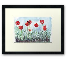 Poppies mean Spring! Framed Print