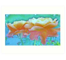 Pastel Colours Art Print