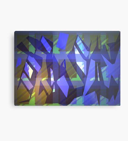 Painted patterns Metal Print