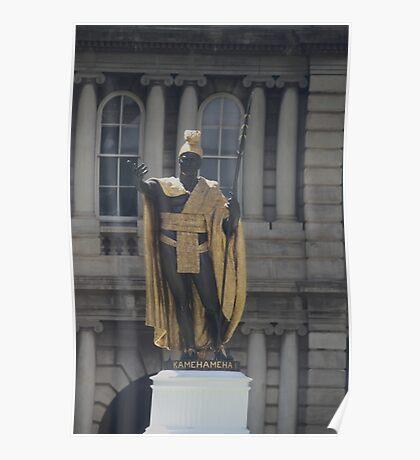 The Statue of King Kamehameha in Honolulu, Hawaii.... Poster