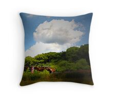 There Once Was A Barn Throw Pillow