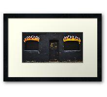 Facade of Fire  Framed Print