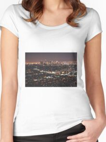 Los Angeles Skyline Women's Fitted Scoop T-Shirt