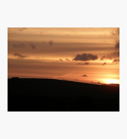 vibrant sunset Photographic Print