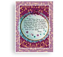 Hail Mary Greeting Card Canvas Print