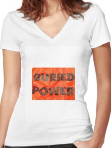 Buried Power Women's Fitted V-Neck T-Shirt